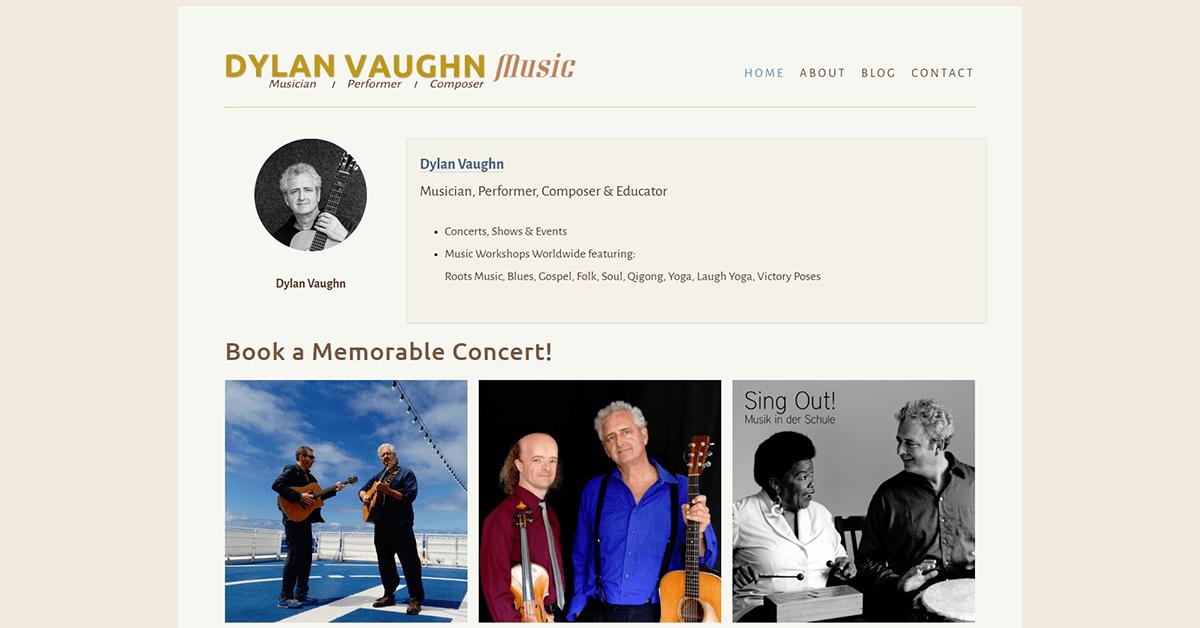 CASE STUDY:  Dylan Vaughn Music 1